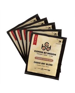 Casco Bay Blend Single Serve Steeped Coffee - 5 pack